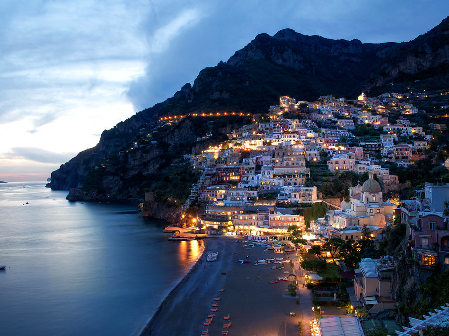 Positano by night tour -  Star Cars luxury tours in Amalfi coast
